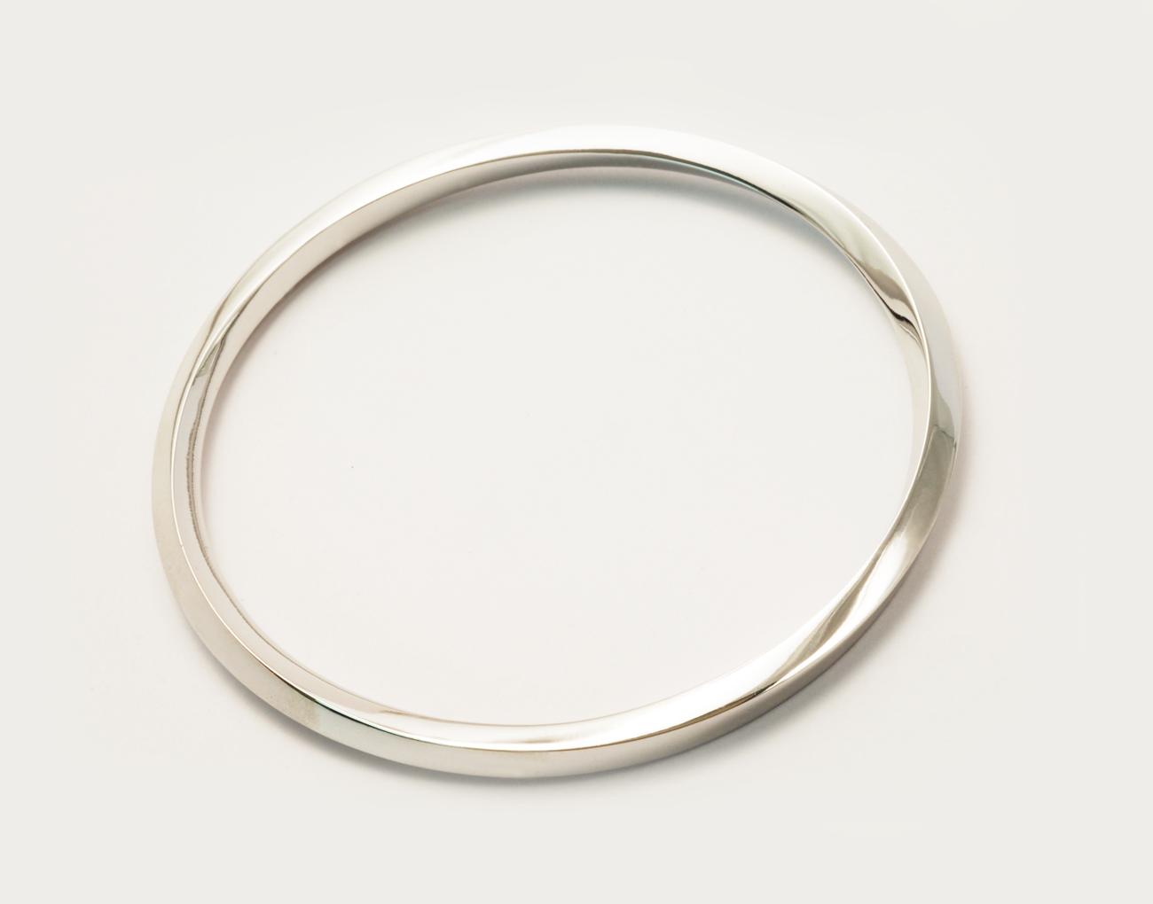 Bracelet or blanc vue 2